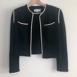 ST. JOHN BY MARIE GRAY Blazer Black and Wh…
